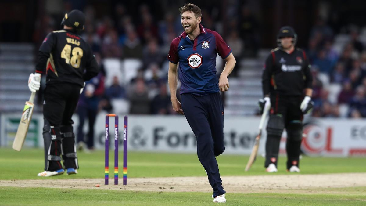 Northamptonshire seamer Richard Gleeson also claimed three wickets