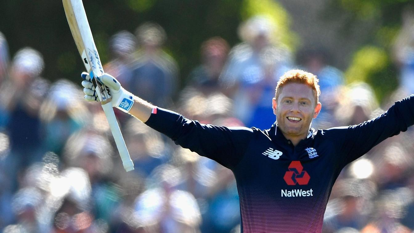 Bairstow celebrates his century in Christchurch