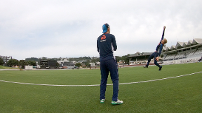 Watch England's boundary catching practice
