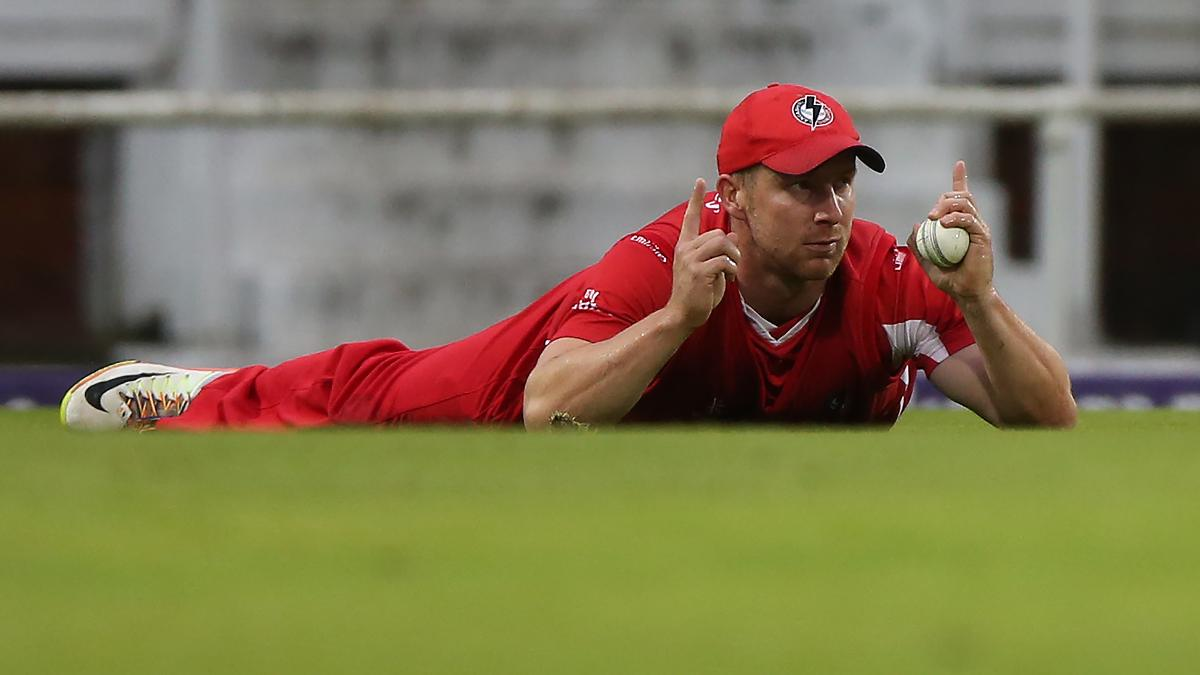 Lancashire's Matt Parkinson finished with figures of 4-26 in Coolidge