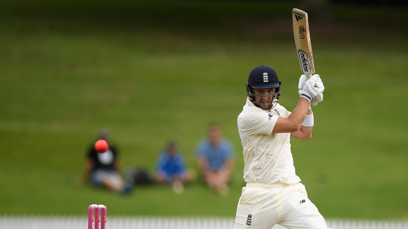 Liam Livingstone bats against New Zealand XI