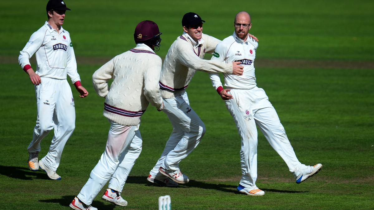 Leach has taken 118 wickets for Somerset in the last two County Championship seasons