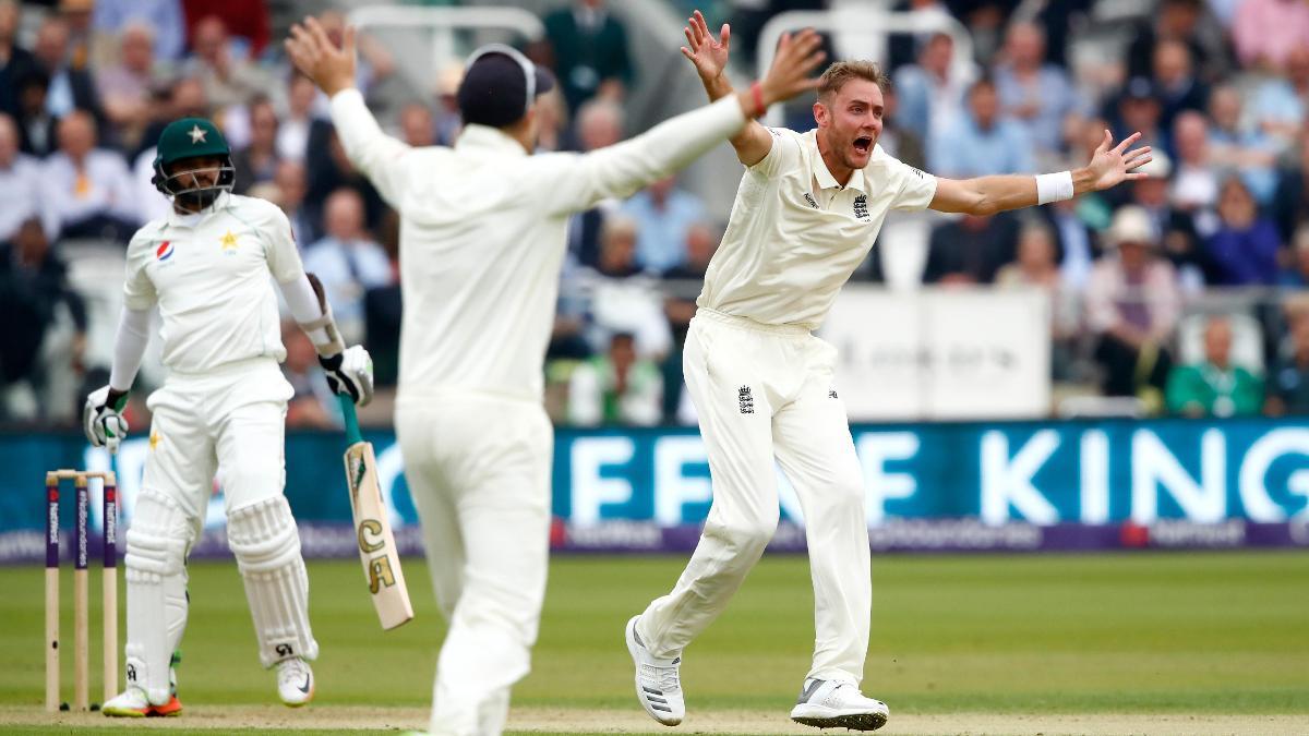 Stuart Broad appeals against Pakistan