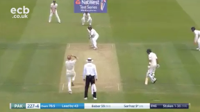 Sarfraz out caught Wood bowled Stokes