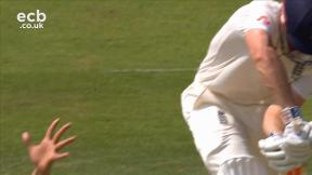 Cook out lbw bowled Abbas