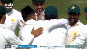 Malan out caught Sarfraz bowled Amir
