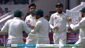 Wood out caught Sarfraz bowled Amir