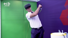 Which England player did best in the virtual reality challenge?