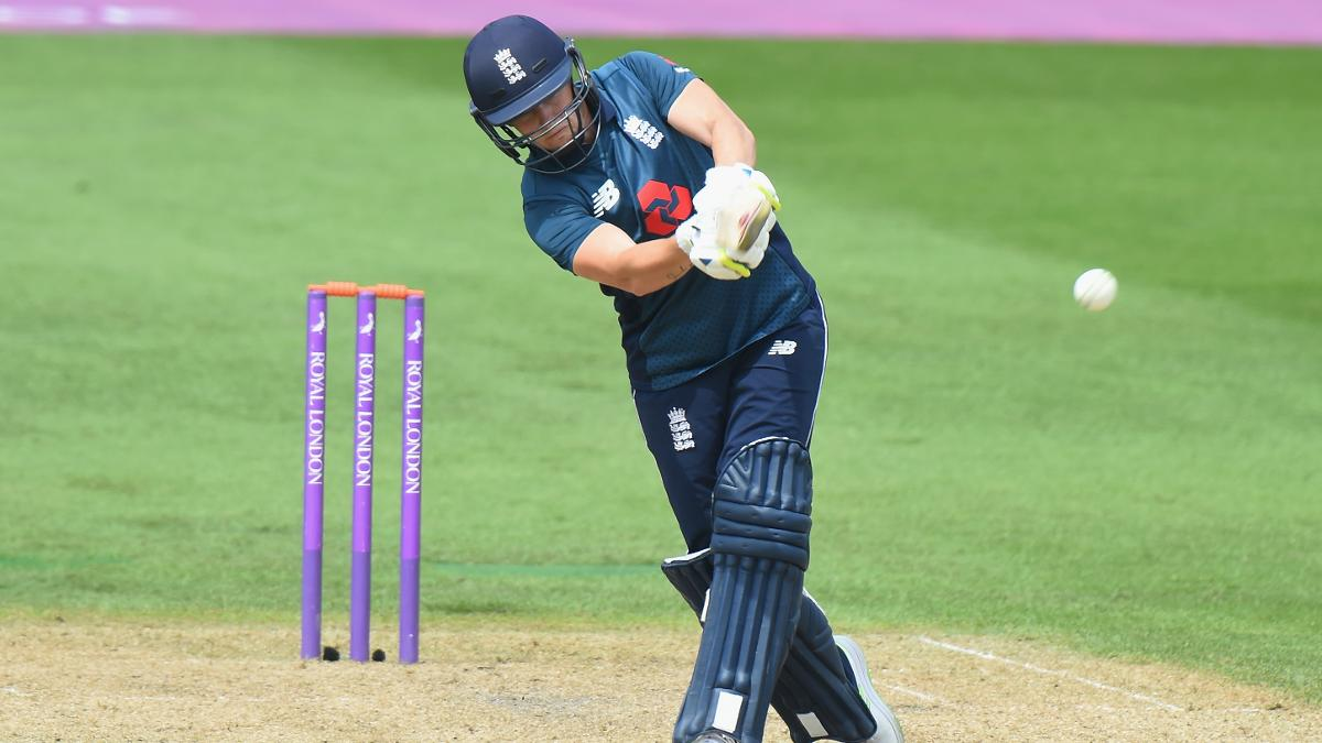 Katherine Brunt led the England recovery, pummelling her second ODI half-century on the way to 72*