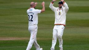 Watch Chris Rushworth's five-wicket haul against Derbyshire