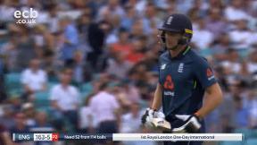 Buttler out, caught Richardson bowled Tye