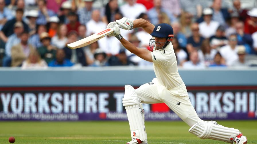 Alastair Cook crunches the ball for four on his way to 70