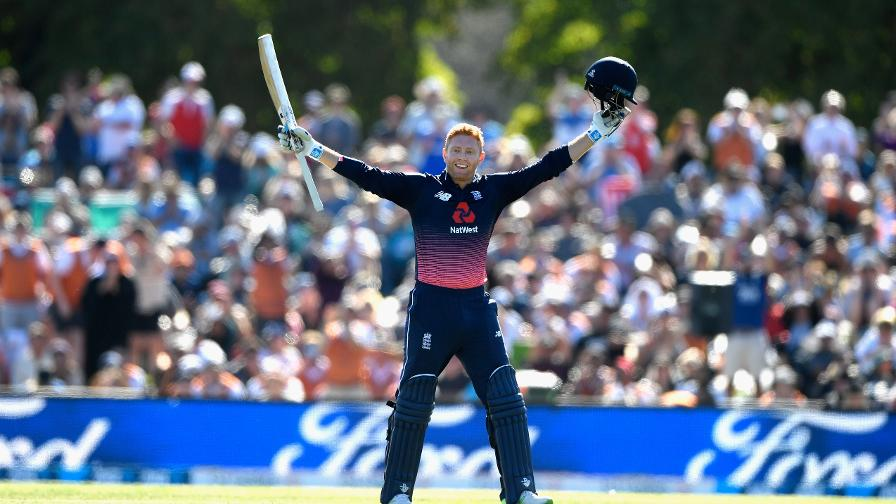 The crowd rise to their feet to applaud Jonny Bairstow for hitting back-to-back ODI hundreds
