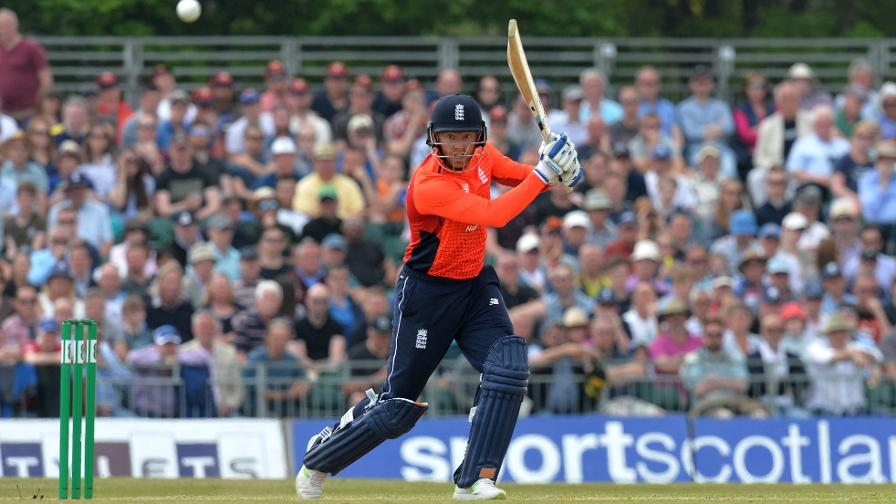 The ball flies to the boundary as Jonny Bairstow hits the third fastest ODI century ever for England