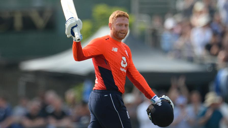 Jonny Bairstow salutes the crowd after hitting his third successive ODI century