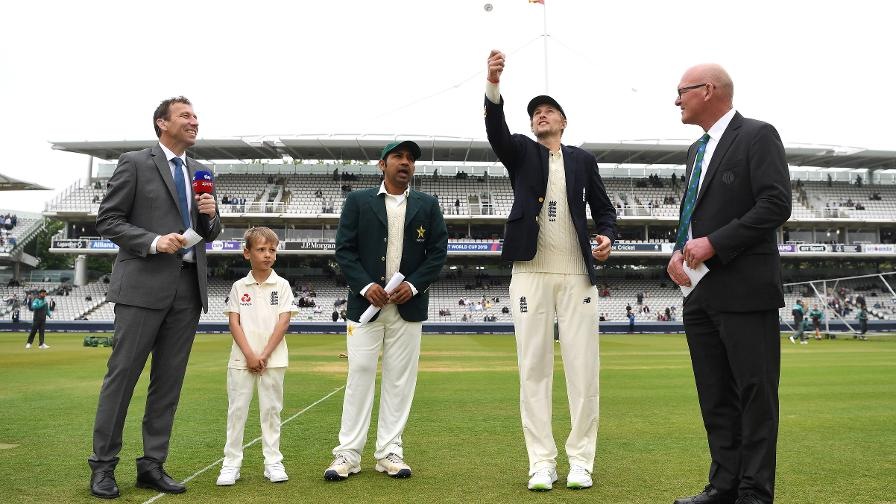 Joe Root tosses the coin ahead of the first Test of the summer