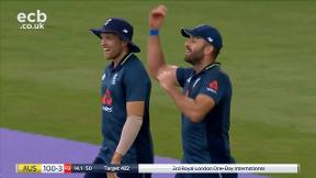 Marsh out caught Plunkett bowled Moeen Ali