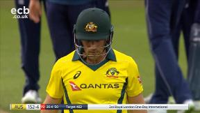 Finch out bowled Rashid