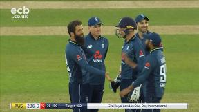 J. Richardson out stumped Buttler bowled Moeen Ali