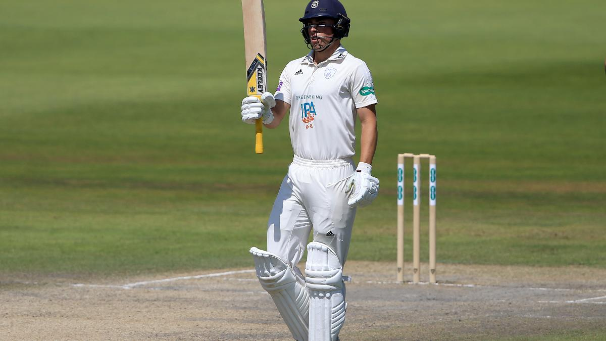 Taking the acclaim - Joe Weatherley was outstanding for Hampshire on Day Four
