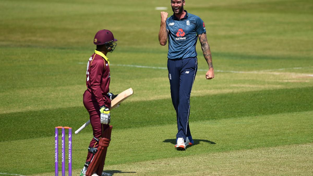 The celebration says it all for Reece Topley!