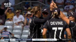 Sciver out lbw bowled Tahuhu