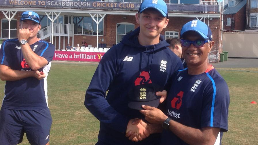 Luke Hollman gives England Under-19 the advantage