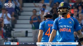 Rohit four brings up his 50