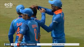 Root out lbw bowled Kuldeep