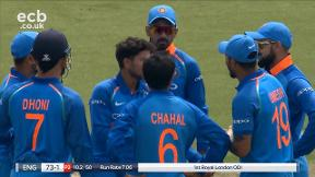 Roy out caught Umesh bowled Kuldeep