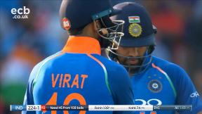 Rohit ends Ali's over with a six