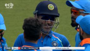 Buttler out caught Dhoni bowled Kuldeep