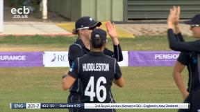 Elwiss out caught Green bowled Jensen