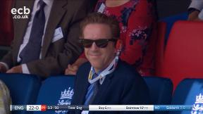 Damian Lewis in the crowd at Lord's