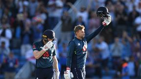 Watch Joe Root's 100 not out against India at Headingley