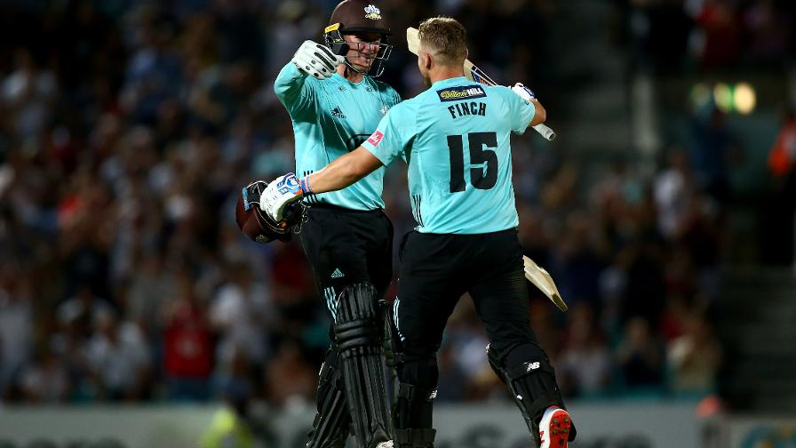 Aaron Finch & Jason Roy put on 194 for the first wicket