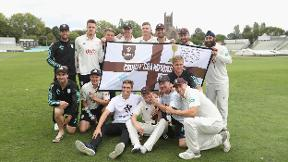 Surrey's players react to title triumph