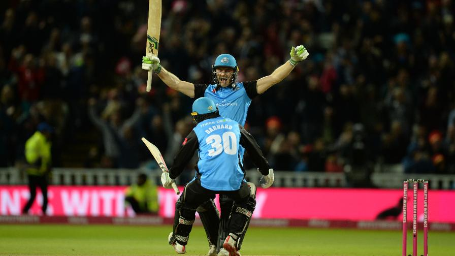 The winning moment for Worcestershire Rapids