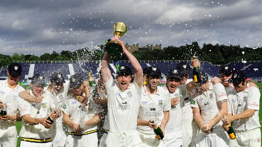 Collingwood takes on the Durham captaincy and leads them to the 2013 County Championship title