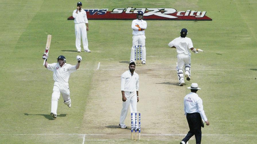 In Nagpur Collingwood struck a superb maiden Test century with an unbeaten 134