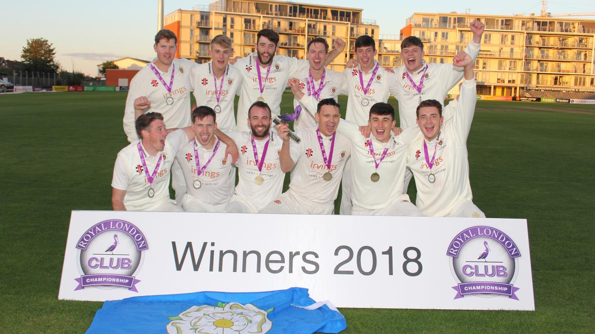 The Yorkshire side celebrate their 2018 final win