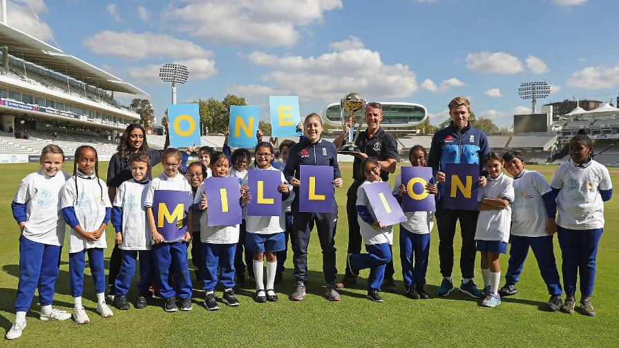 ECB and ICC Cricket World Cup aim to take cricket to one million children
