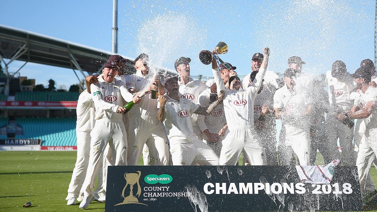 Surrey lift the Specsavers County Championship