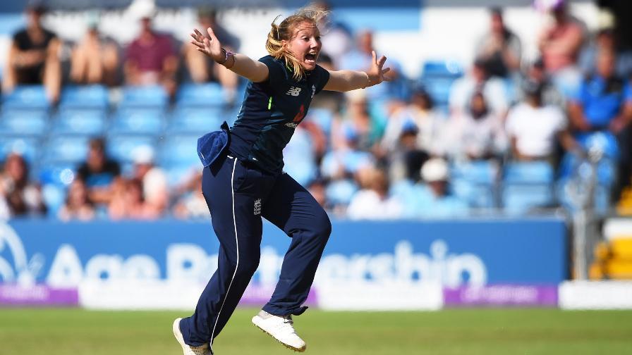 Katie George suffers back injury