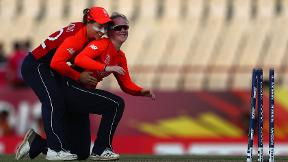 Watch: Kirstie Gordon takes 3-16 on debut in World T20 player-of-the-match display