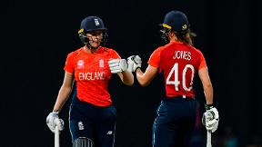 Watch: Sciver and Jones 92-run partnership powers England to World T20 decider