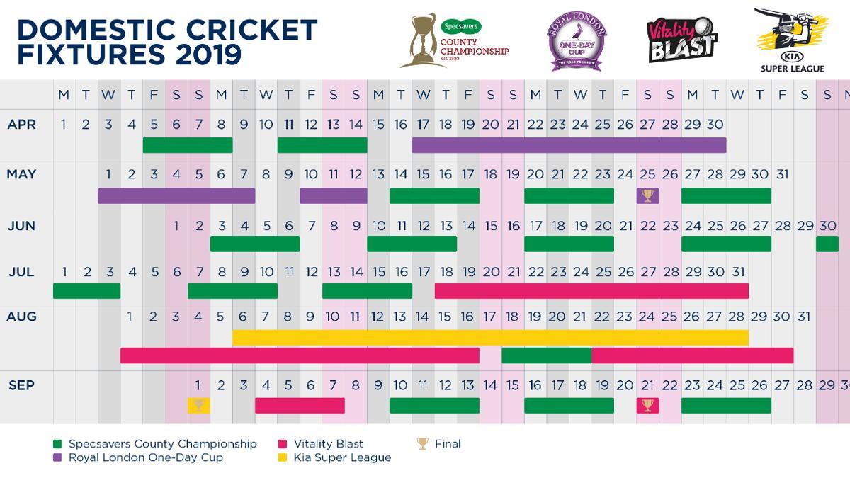 Domestic fixtures 2019