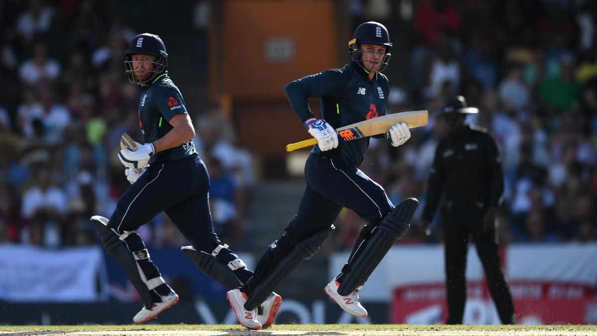 Jonny Bairstow and Jason Roy in action against the West Indies