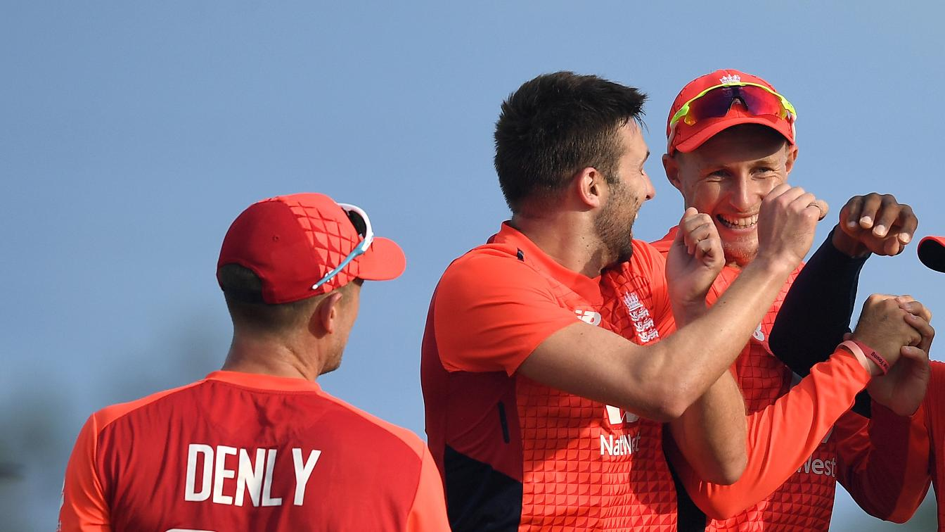 England celebrate in St Kitts third IT20