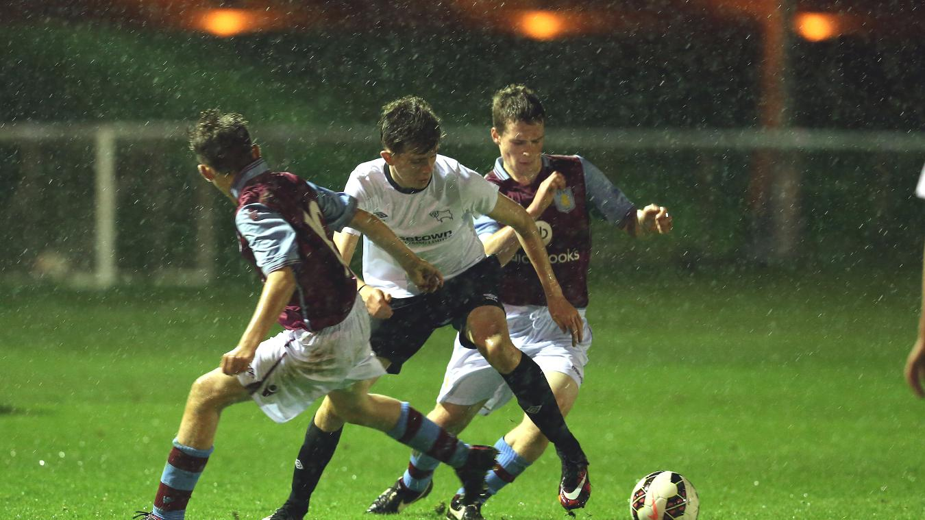 The Aston Villa and Derby kids performed well in poor conditions